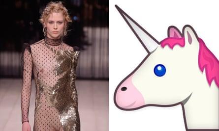 McQueen and the Unicorn emoji.