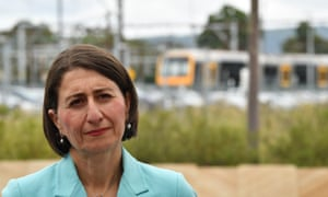 NSW premier Gladys Berejiklian in Sydney on Monday. Analysis by the parliamentary budget office has found the state budget would be $700m worse off under the Coalition over the forward estimates.