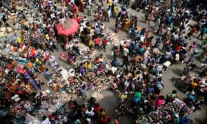 A market in Lagos, Nigeria