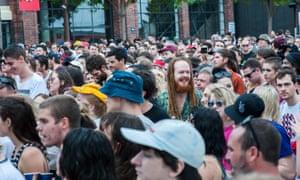 St Jerome's Laneway festival in Brisbane, 2016.