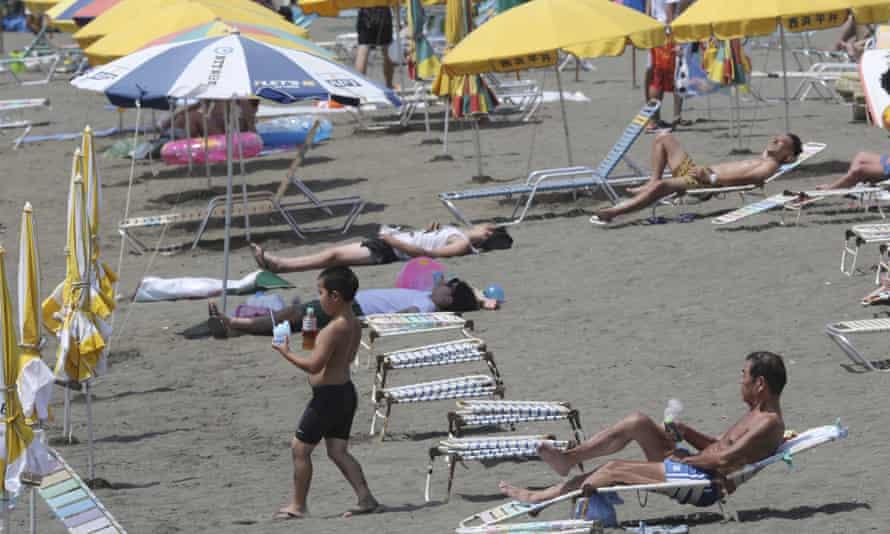 Shonan Beach in Fujisawa near Tokyo.