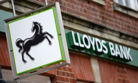 Lloyds Banking Group's first-quarter profits doubled to £1.3bn.
