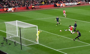 Eddie Nketiah turns home Arsenal's equaliser.