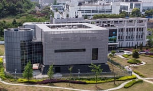This file photo taken on 17 April 2020 shows an aerial view of the P4 laboratory at the Wuhan Institute of Virology in Wuhan in China's central Hubei province.