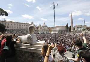 Protesters gather in Rome on Sunday