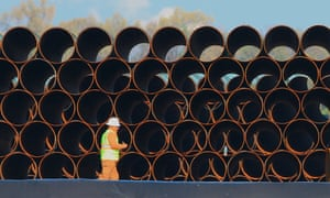 Pipes for the proposed Dakota Access oil pipeline, that would traverse North and South Dakota, Iowa and Illinois.