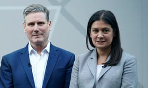 Keir Starmer and Lisa Nandy pictured together in January before the first hustings for the Labour leadership.