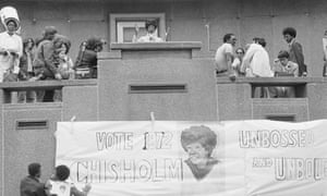 US Representative Shirley Chisolm speaks against the Vietnam War during a noon rally at Kennedy Square in downtown Detroit.
