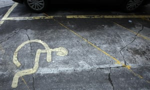 cracked concrete disabled parking area