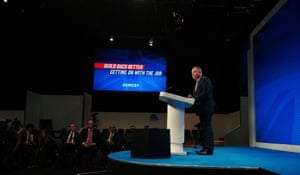 Lord Frost addressing the conference.