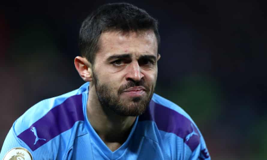 Bernardo Silva could miss Manchester City's match against Chelsea next week after being banned for one match.