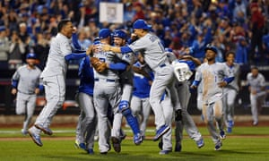 The Royals celebrate their World Series victory over the Mets last year. Don't bet against them doing it again.