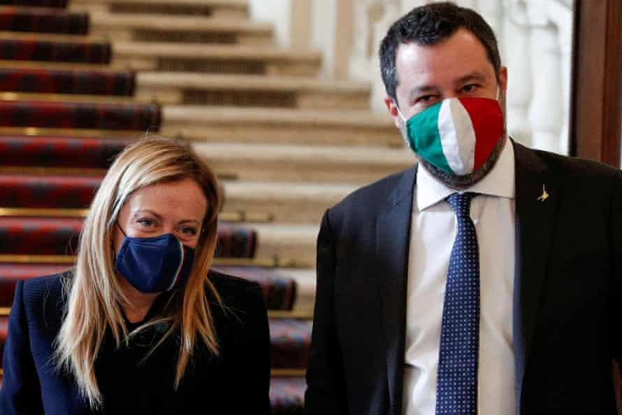Giorgia Meloni and Matteo Salvini
