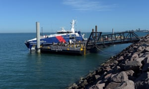 A Cape-class patrol boat docked at Darwin port. The former trade minister, Andrew Robb, has taken a job as economic consultant for the Chinese company that runs the port.