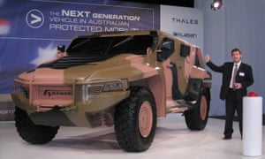 A Hawkei armoured vehicle.