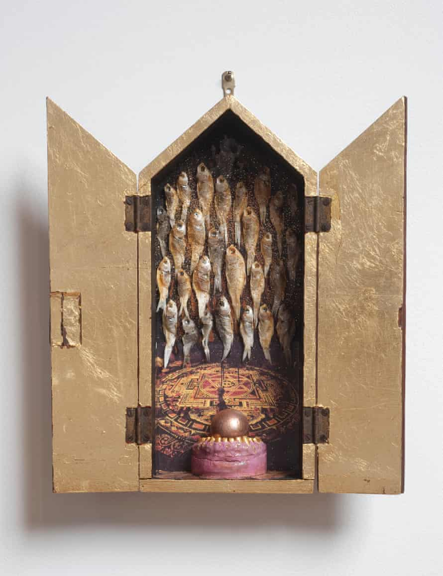 Feeding the Fishes: a small sculptural shrine