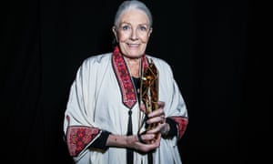 Vanessa Redgrave with the Richard Harris award at the British independent film awards.