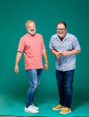 Alan Carr and Graham Norton. London. Photograph by David Levene 18/9/19