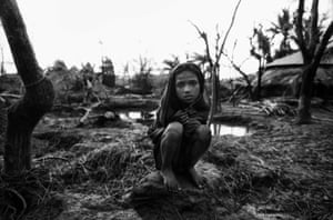 Sufia was the only survivor in her family. The others all died when their home was destroyed by the cyclone of 29 April 1991, in Anwara, Chittagong, Bangladesh. Sufia was taken in as part of another family.