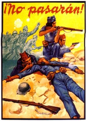 A Spanish civil war propaganda poster.