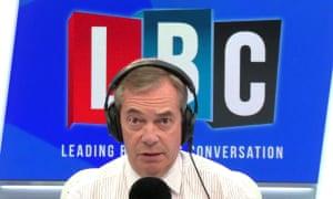 Nigel Farage speaking to Donald Trump on his LBC radio show.