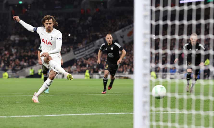 Dele Alli dispatches an early penalty to give Spurs the lead.