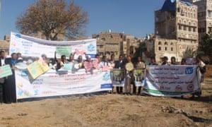 Yemen climate change protest on 29 November 2015.