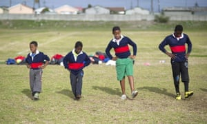 Rugby training in Khayelitsha