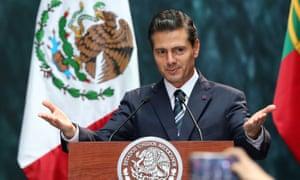Mexico's president, Enrique Peña Nieto, has told reporters that corruption is 'a matter of culture'.