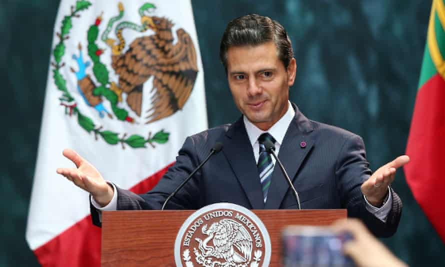 President Enrique Peña Nieto in Mexico city. Chihuahua governor Javier Corral has accused the government of attempting to quash an investigation.