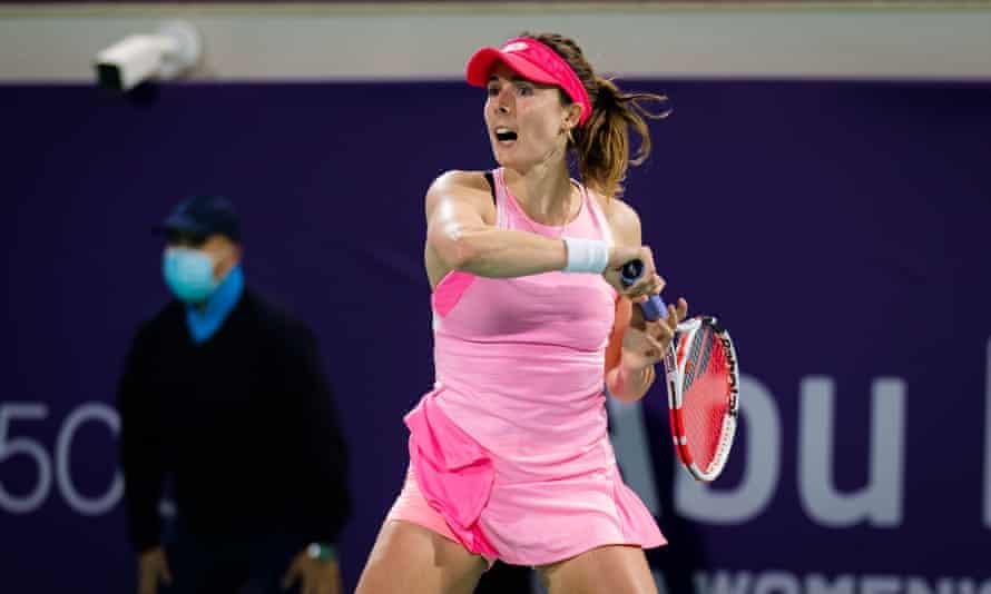 French tennis player Alize Cornet.