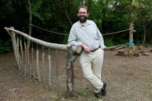 Mark Harold (National Trust), pictured on the White Walk of the National Trust's Lytes Cary Manor, Somerset.