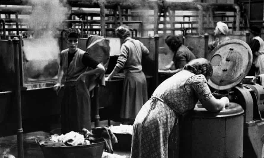 A local authority public washhouse in the 1950s