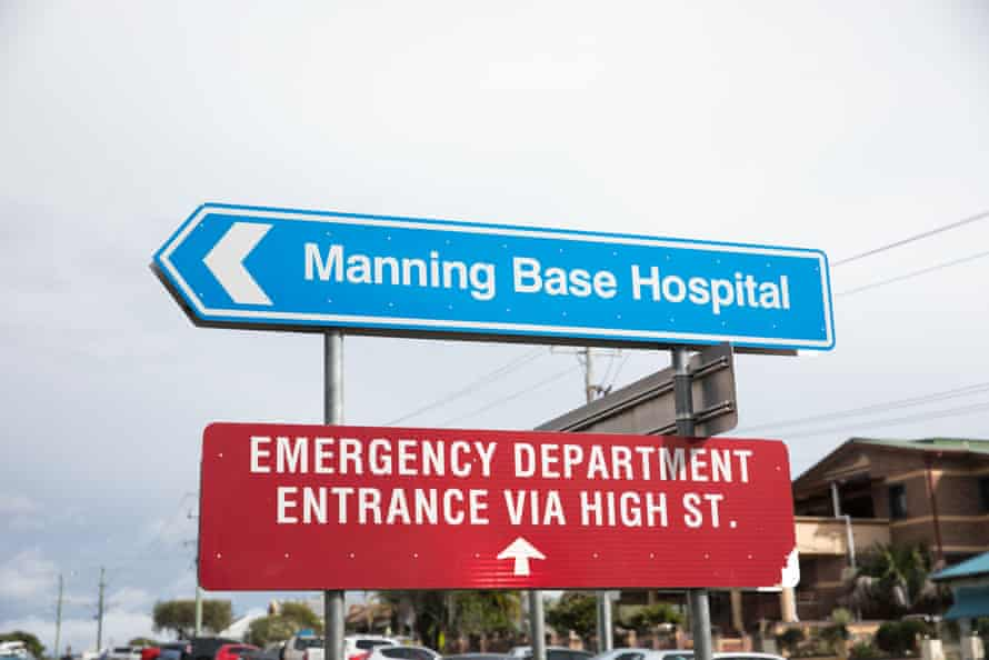 The entrance to the Manning Rural Referral hospital. Taree