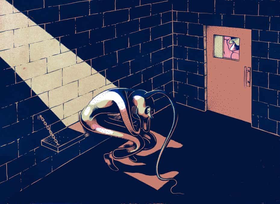 Sperm in prison - Illustration by Renaud Vigourt at Heart Agency