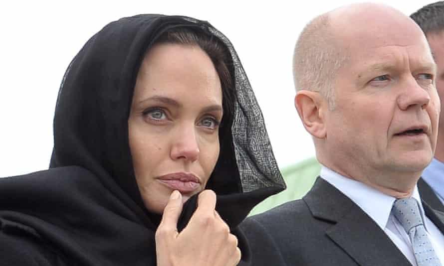 Angelina Jolie and William Hague