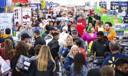 Shoppers at a Walmart Black Friday event in Arkansas, November 2019