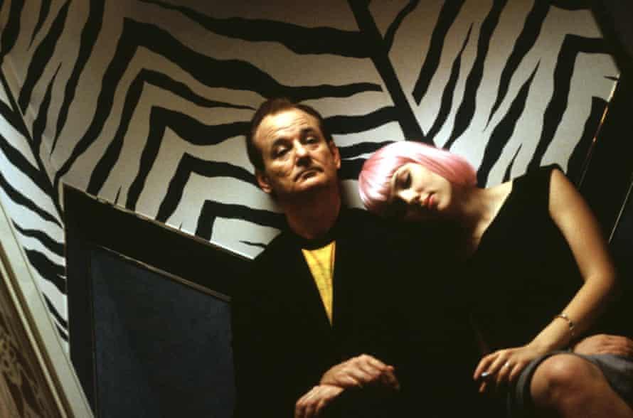 Scarlett Johansson and Bill Murray in Coppola's 2003 romantic comedy-drama Lost in Translation.
