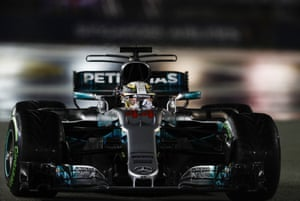Hamilton sets the fastest lap.