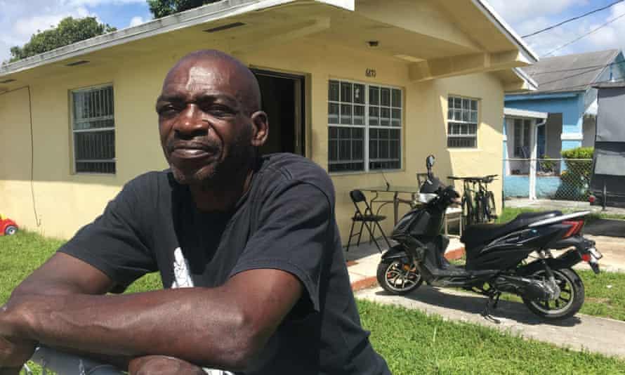 IMG 4835 Michael McGoogan, 55, outside his boarding home in Liberty City.