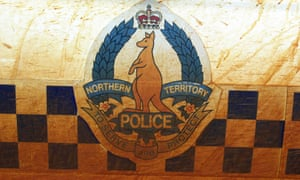 The side of a police car in the Northern Territory