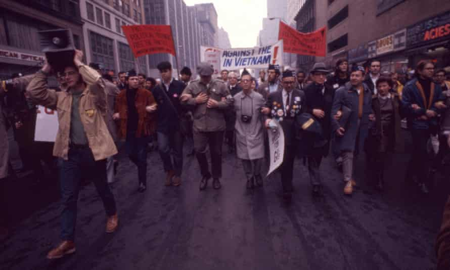 A protest against the Vietnam war, New York City, 1968.