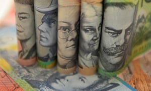 Australian currency pictured in Sydney, Thursday, Sept. 11, 2014. (AAP Image/Joel Carrett) NO ARCHIVING