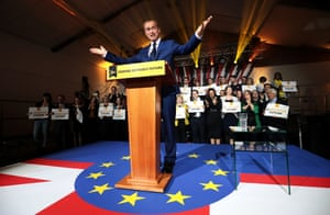 The leader of the Liberal Democrats, Tim Farron, launches the party's manifesto in London on Wednesday