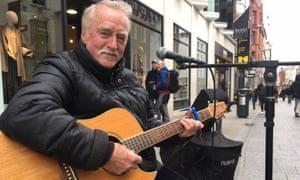 Vincent Fottrell, a Dublin busker
