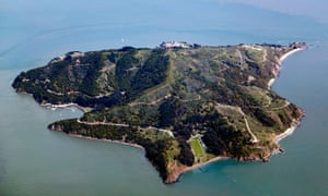 Angel Island in San Francisco Bay. The detention facilities were so primitive here that one group of Australians renamed it 'Devil's Island'.