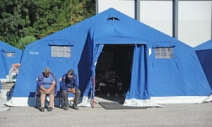 Atemporary camp in Pescara del Tronto was set up for the survivors of the earthquake.