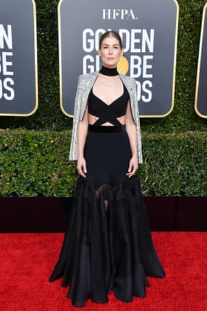 Rosamund Pike in Givenchy Haute Couture.