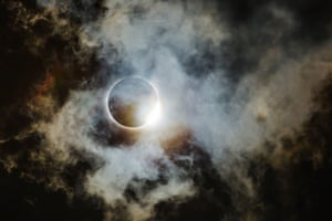 Diamond ring through thin clouds