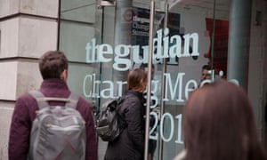 People arrive at the Guardian Changing Media Summit 2016